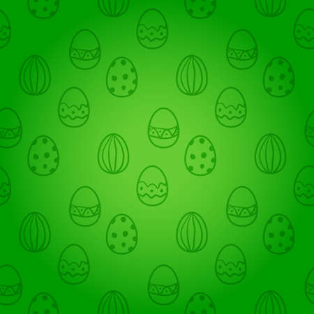 green background: Easter egg seamless vector pattern.