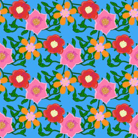 graficas: Patrón de color transparente con flores.