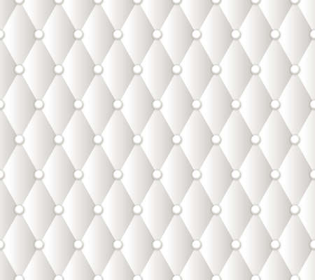 Vector abstract white upholstery background. Ilustrace