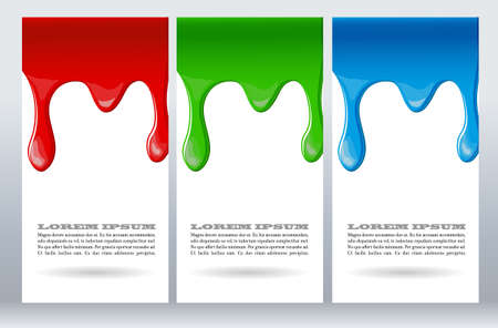 dripping: Paint dripping on white card. Vector illustration Illustration