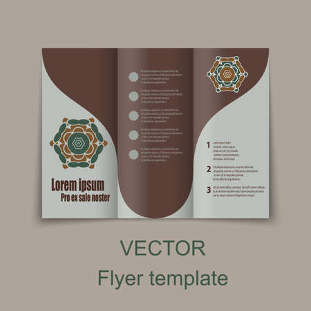 lay-out: Vector Brochure Layout Design Template