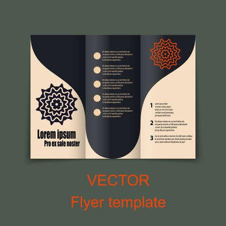 samples: Vector Brochure Layout Design Template.