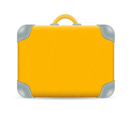 ベクトル ヴィンテージ白で隔離旅行スーツケース