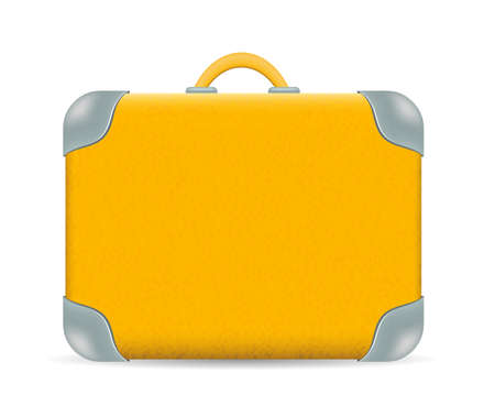 valigia: Vettoriale vintage Viaggi valigia isolato su bianco Vettoriali