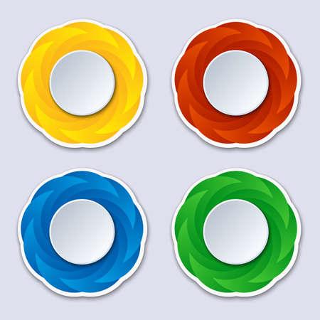 sticker design: Abstract wavy shape sticker design. Vector background Illustration