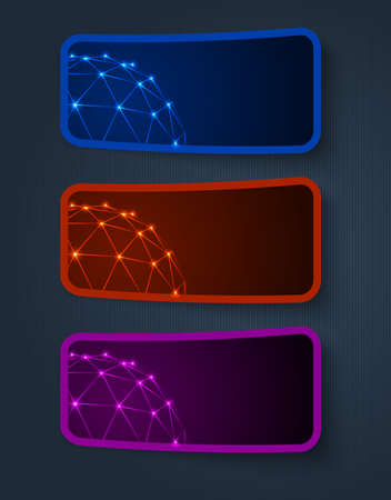 continuity: vector color sticker banners, grouped, easy to modify Illustration