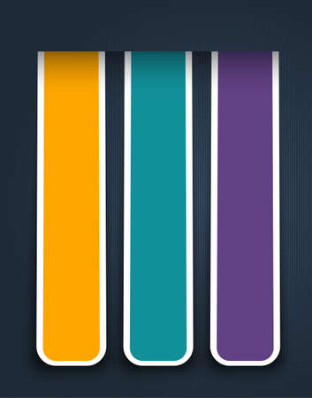 modify: vector color sticker banners, grouped, easy to modify Illustration