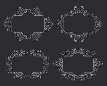 vintage floral frame: Vintage floral frame. Vector element for design. Illustration