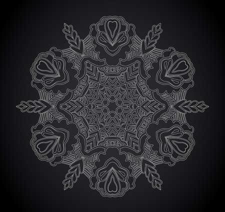 backgrounds and borders: Vintage floral frame. Vector element for design. Illustration