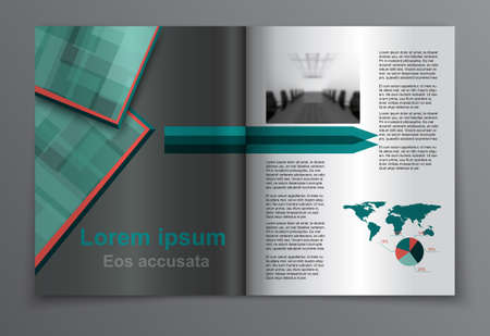 evening newspaper: Set of brochure, poster templates. Beautiful design and layout