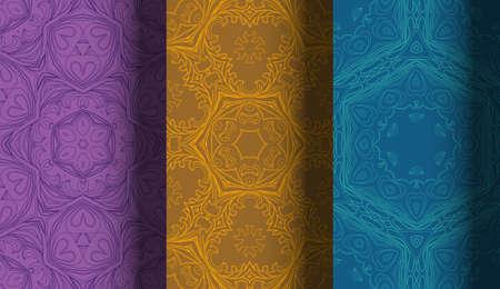 pastel colour: Vector of Seamless Patterns set. Illustration