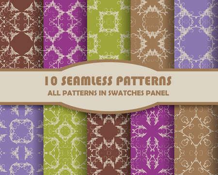 stripes seamless: Seamless Patterns set.