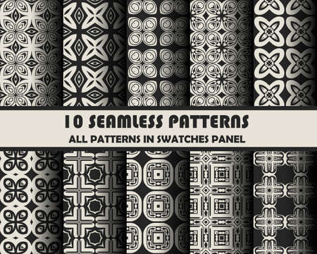 lines pattern: set of geometric patterns for design.