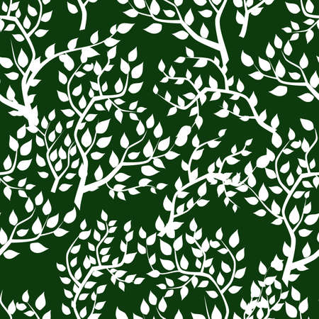 abstract seamless: Seamless background with tree leafs. Vector pattern Illustration