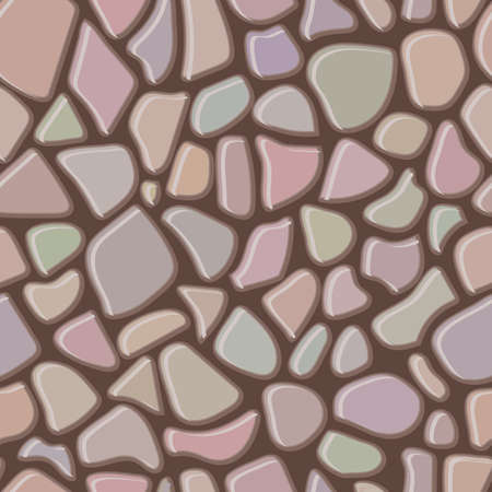 Seamless rock wall abstract pattern. Vector illustration