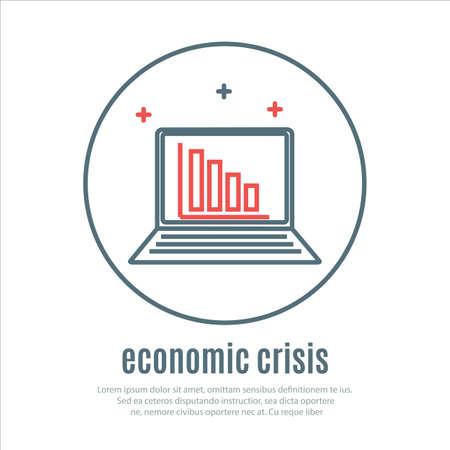 crisis economica: iconos en un tema de la crisis econ�mica. Vector Vectores