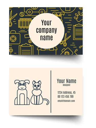 animal health: Veterinary pet health care animal medicine business card