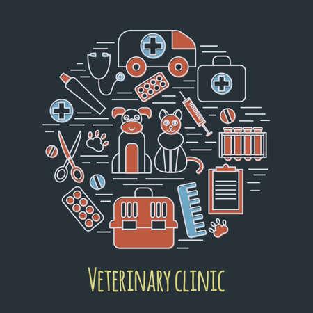 animal health: Veterinary pet health care animal medicine icons set isolated. vector illustration
