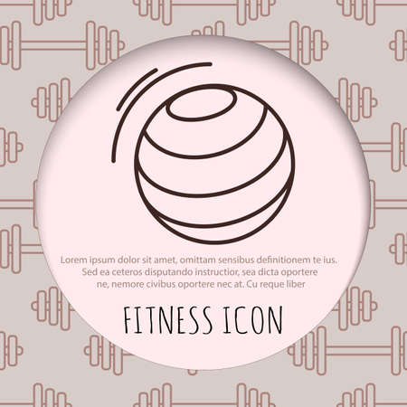 exercise equipment: Fitness line art icon for your design. Vector illusration