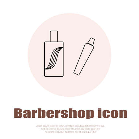 haircutting: Linear barbershop icons set. Universal hairstyle icon to use in web and mobile UI, basic elements