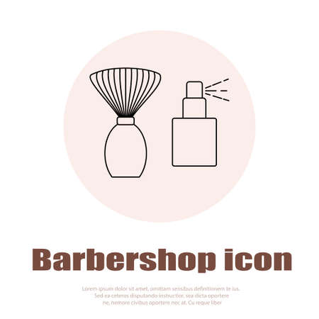 drier: Linear barbershop icons set. Universal hairstyle icon to use in web and mobile UI, basic elements