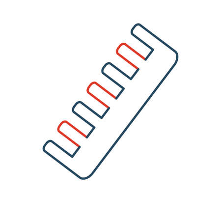 clippers comb: Linear barbershop icons set. Universal hairstyle icon to use in web and mobile UI, basic elements
