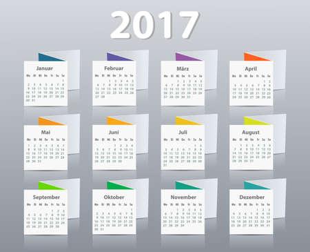starting: Calendar 2017 year German. Week starting on Monday.
