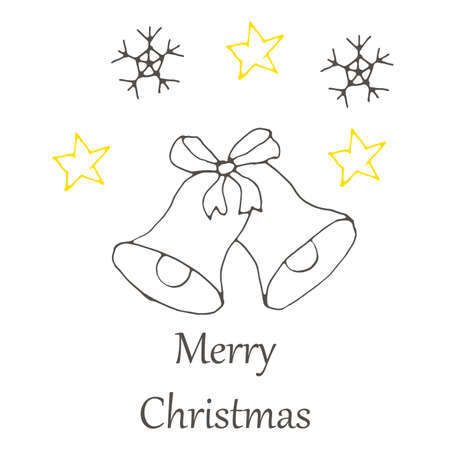 vector Christmas and new year hand drawn seamles pattern. Doodle illustration