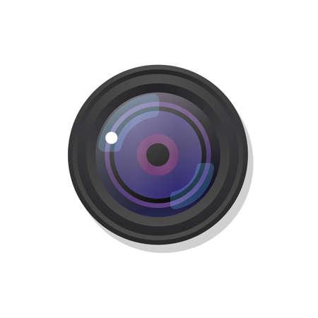 camera symbol: Photo camera symbol icon on white