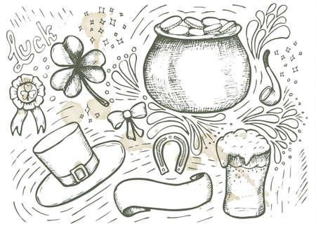 patrick: St. Patrick Day vintage elements