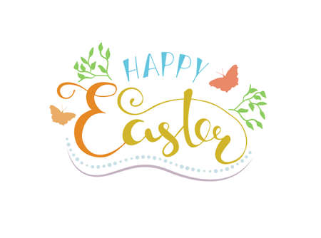 Happy easter lettering typography seasons greetings royalty free happy easter lettering typography seasons greetings stock vector 74316963 m4hsunfo
