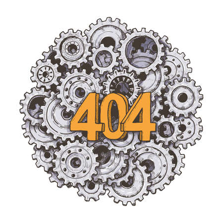 404 error page vector template for website.