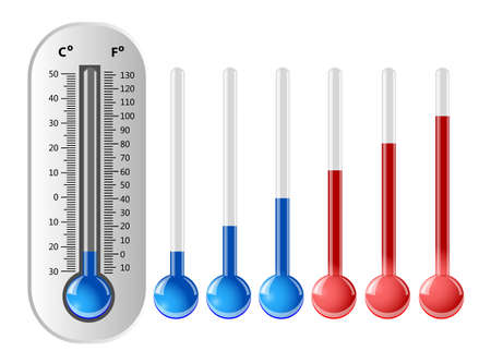 Weather thermometer with different temperature indicators