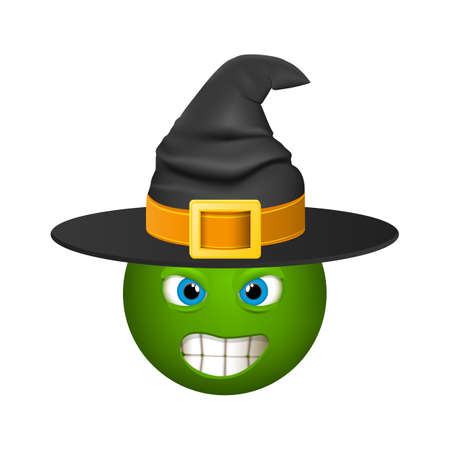 Halloween smiley emoticons, emoji, vector illustration.