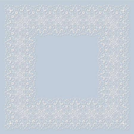 Ornamental frame. Vector illustration