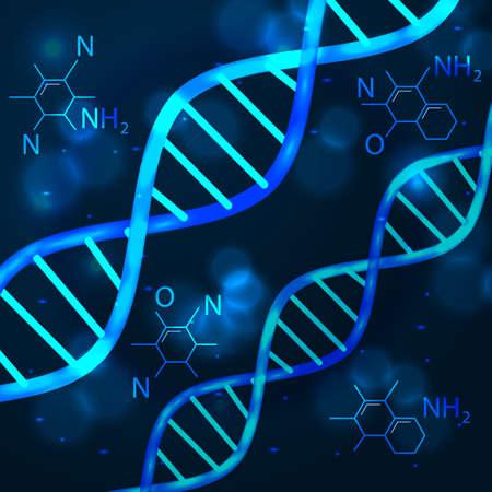 vector abstract technology science concept DNA futuristic Vektoros illusztráció