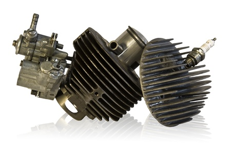 four chambers: Combustion Engine: unity is strength, it creates weakness be separated Stock Photo