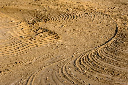 Track: the trace of a passage of an excavator photo