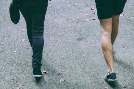 abreast: walking legs