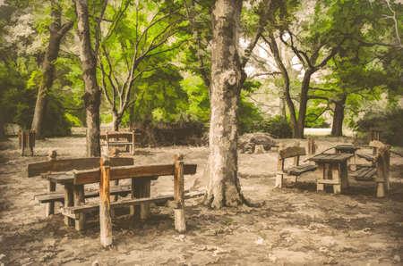 piheno: pihenő az erdőben