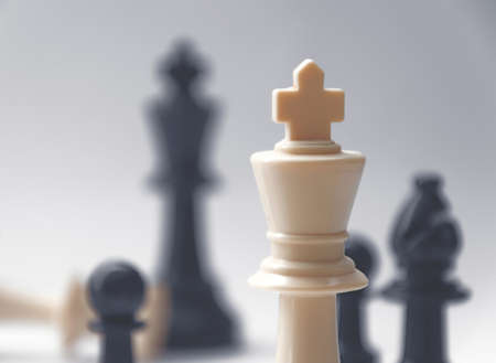 battle cross: Chess battle - the king - plastic chess pieces