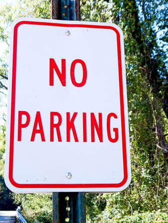 No Parking Signage Stock Photo