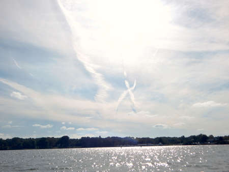 x marks the spot: X Marks the Spot in the Sky Stock Photo