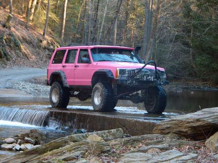 Sassy Pink Jeep Cherokee Sport XJ