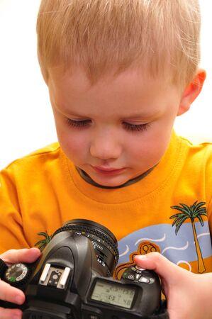 boy with camera Stock Photo - 4493285