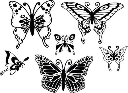 embellishments: Butterflies Vector Illustration