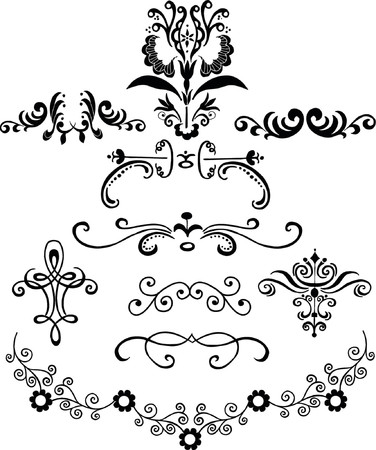 embellishments: Ornamental Vector Design Elements