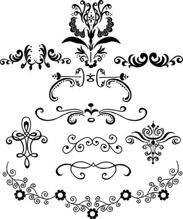 bordure vigne: Ornementales vecteur d'�l�ments de conception Illustration