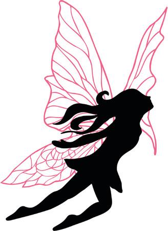 fairy vector: Fairy Vector Silhouette Illustration Illustration