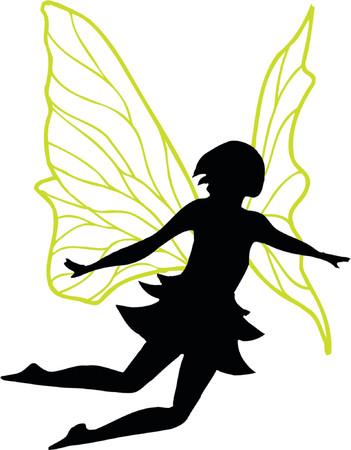 Fairy Vector Silhouette Illustration 免版税图像 - 922092